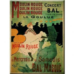 Vintage Chic French Moulin Rouge Paris Metal Sign Plaque